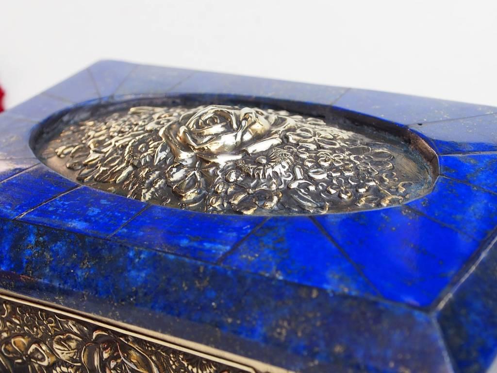 Extravagant Royal blau echt Lapis lazuli Schmuckkiste   aus Afghanistan  Nr-18/8