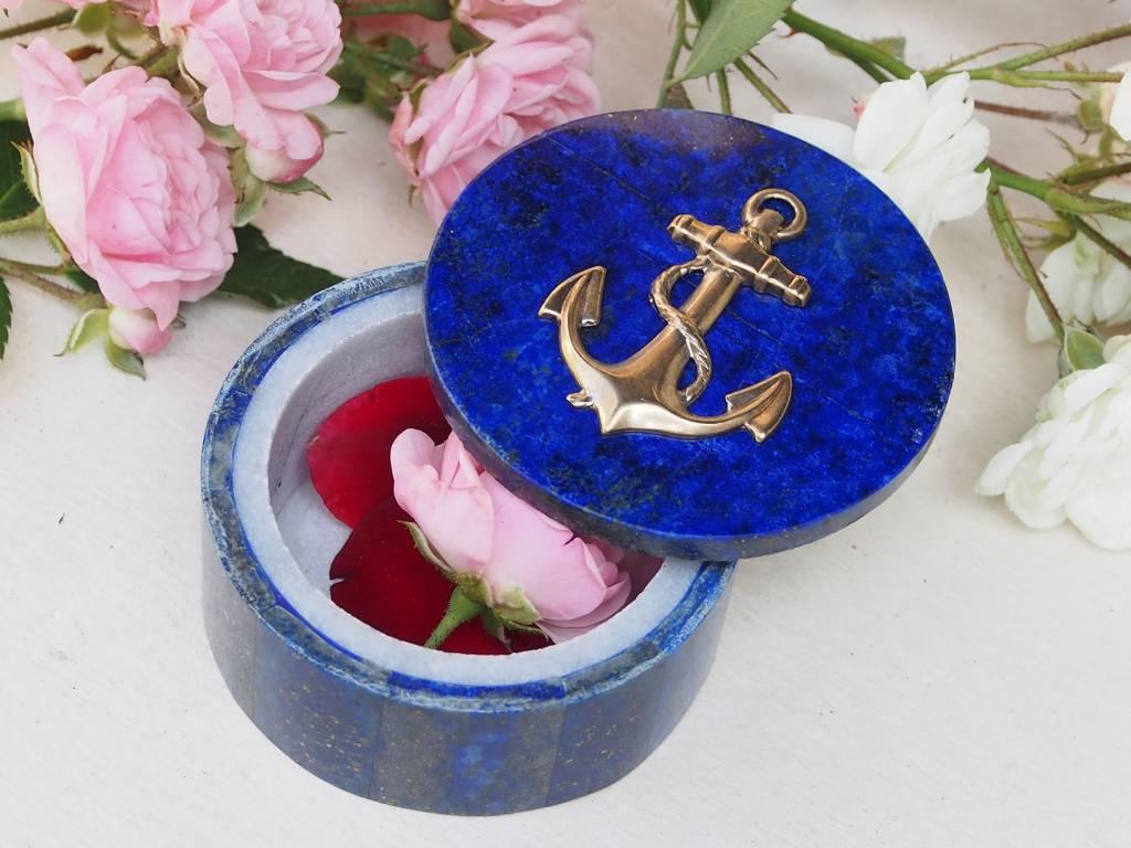 Extravagant Royal blau echt Lapis lazuli Schmuckkiste aus Afghanistan  anchor Nr-18/10