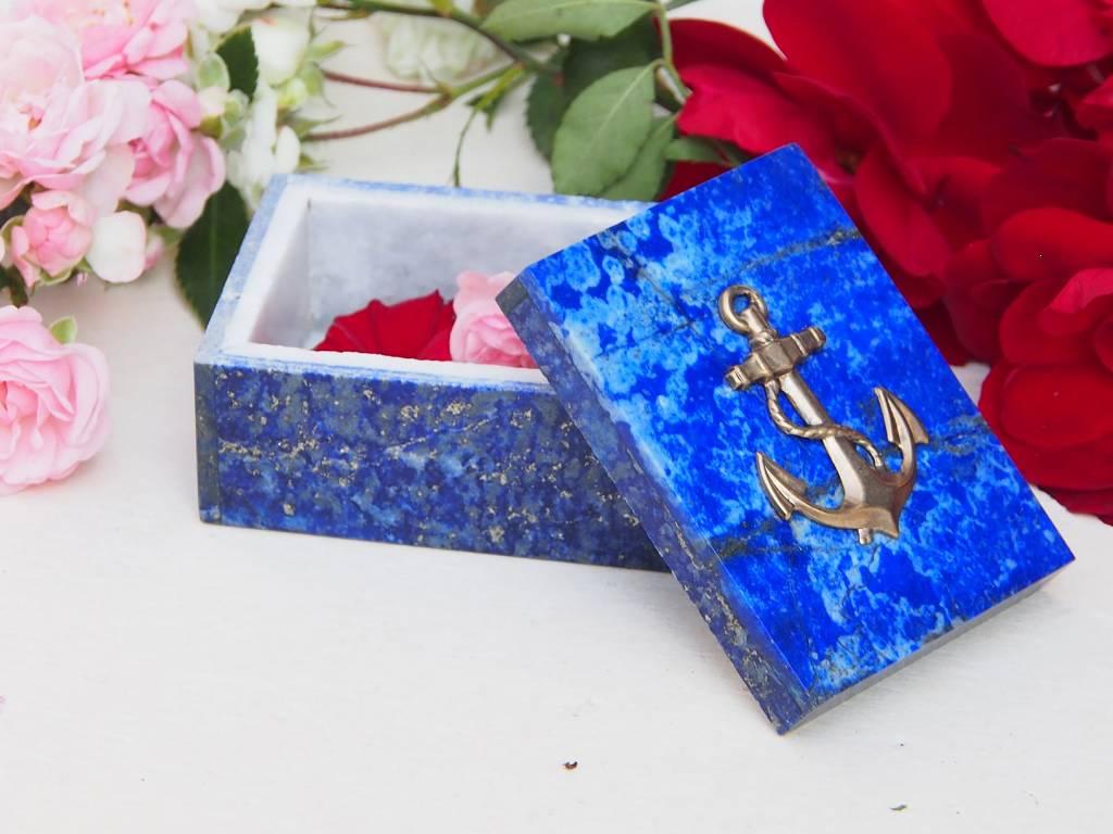 Extravagant Royal blau echt Lapis lazuli Schmuckkiste aus Afghanistan   anchor Nr-18/17