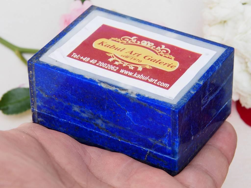 Extravagant Royal blau echt Lapis lazuli Schmuckkiste aus Afghanistan  Krone Nr-18/18