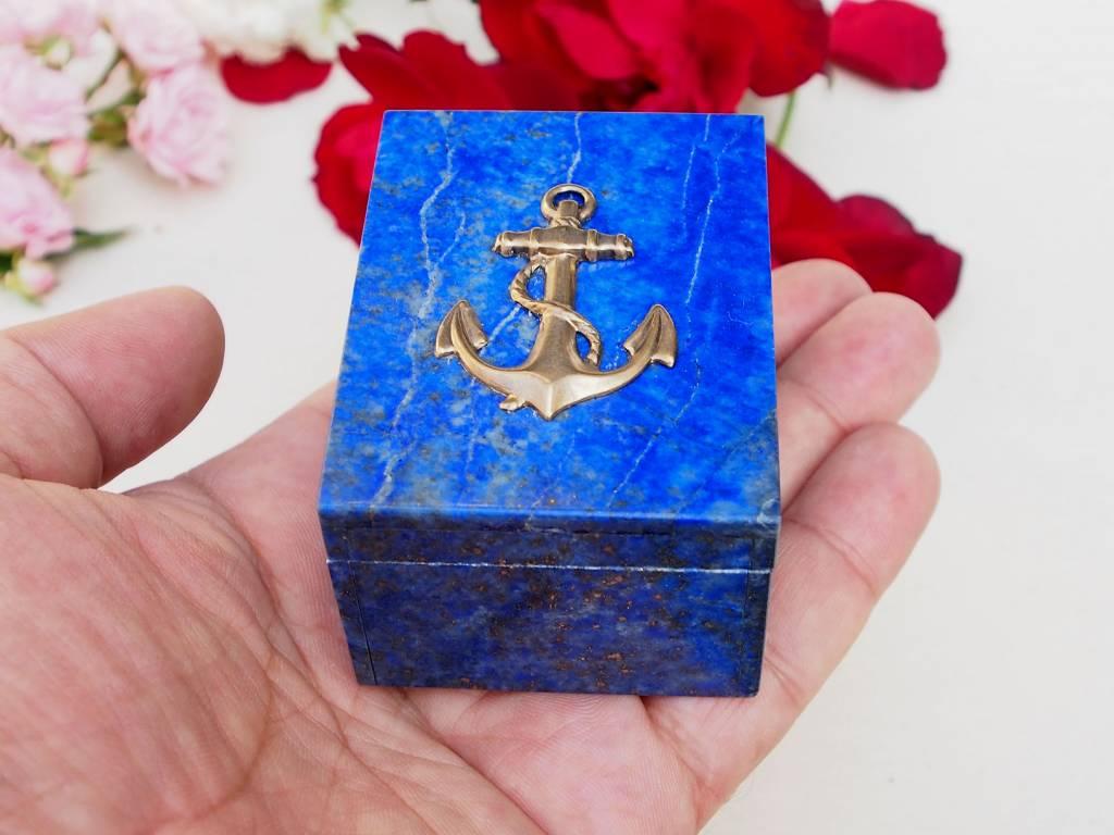 Extravagant Royal blau echt Lapis lazuli Schmuckkiste aus Afghanistan   anchor Nr-18/19