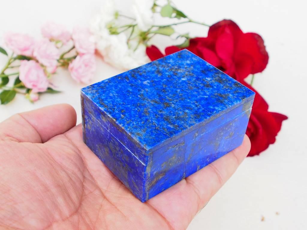 Extravagant Royal blau echt Lapis lazuli Schmuckkiste aus Afghanistan   Nr-18/20
