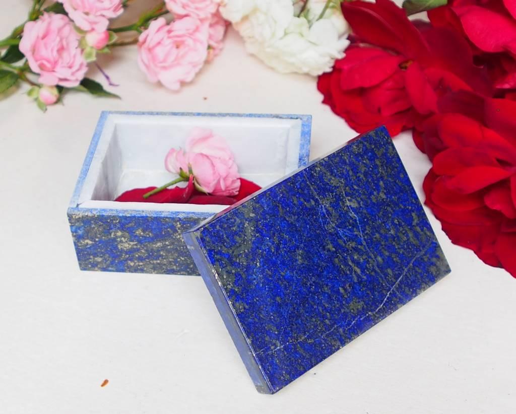 Extravagant Royal blau echt Lapis lazuli Schmuckkiste aus Afghanistan   Nr-18/21
