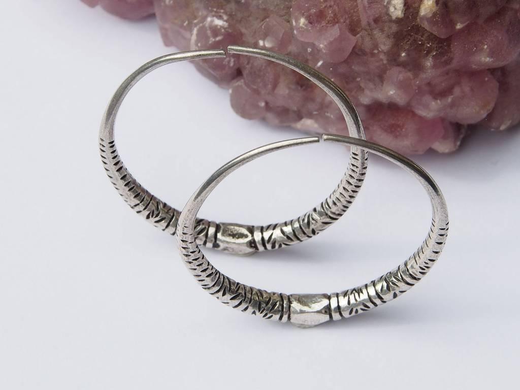 nomaden Silber Kreolen Creolen Ohrringe Vintage silver earring hoops Afghanistan