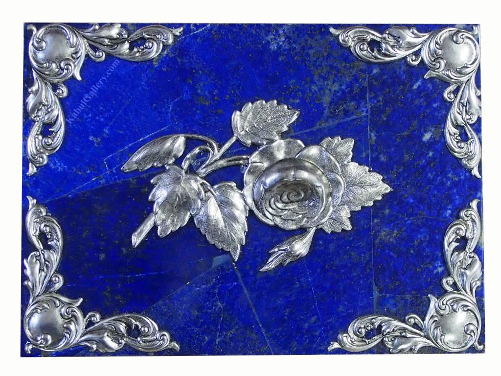 Extravagant Royal blau echt Lapis lazuli Schmuckkiste    aus Afghanistan Löwe Nr-18/23