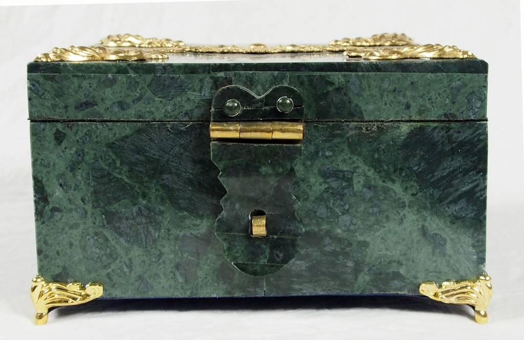 Extravagate und atemberaubende olivgrün Serpentin afghanischen Shahmaqsud Jade büchse Schmuck Dose schatulle Gefäß aus Afghanistan Nr-25