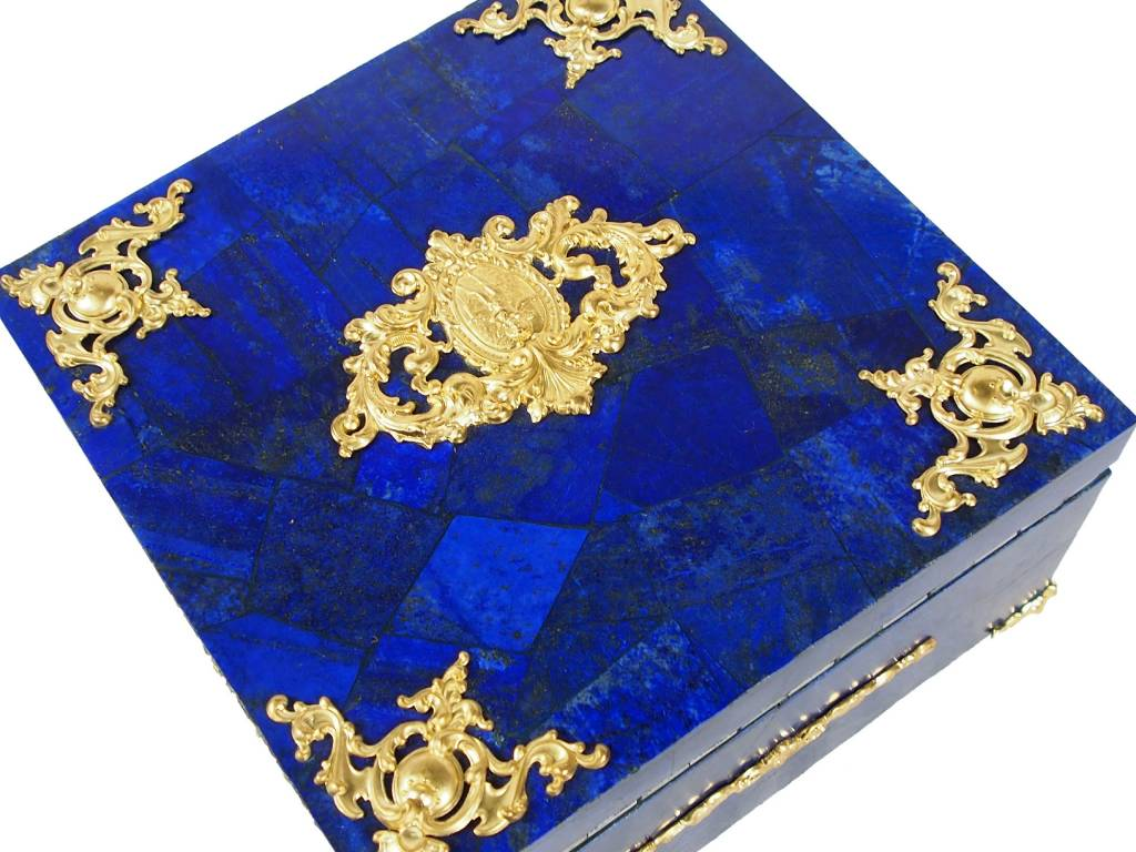 Extravagant Afghan Lapis lazuli büchse Schmuck Dose schatulle Kiste box No:18/31