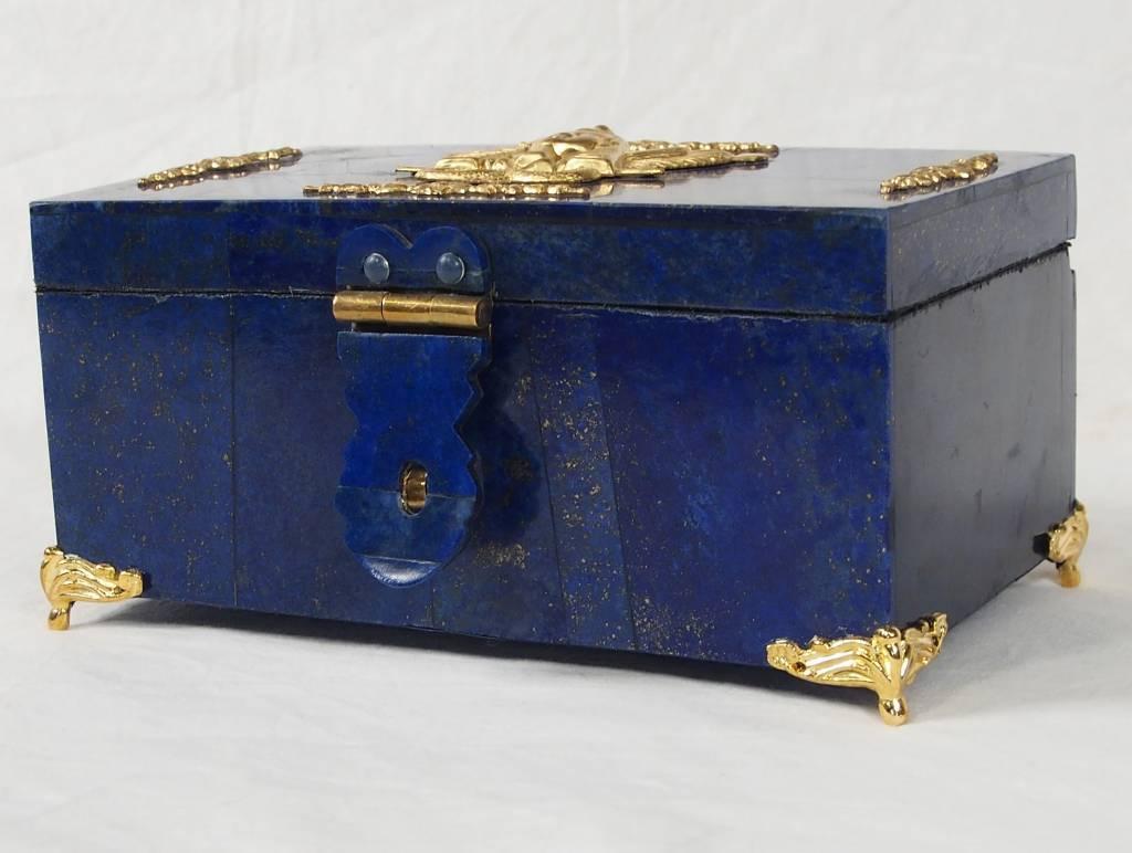 Extravagant Afghan Lapis lazuli büchse Schmuck Dose schatulle Kiste box No:18/28