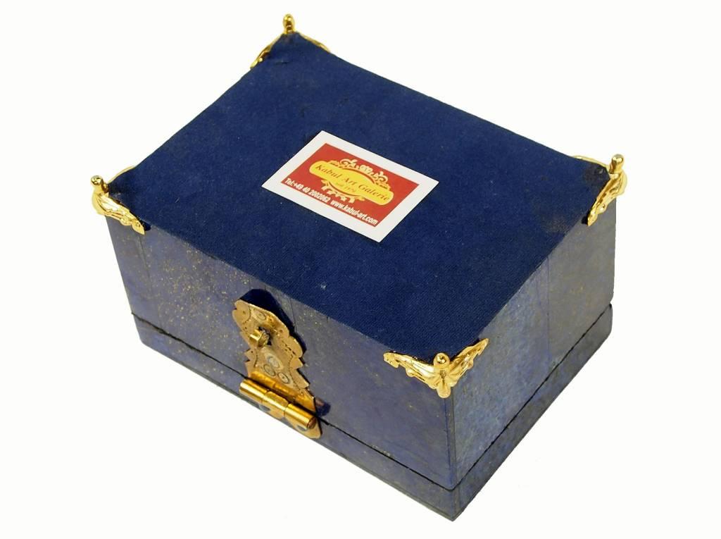 Extravagant Afghan Lapis lazuli büchse Schmuck Dose schatulle Kiste box No:18/29