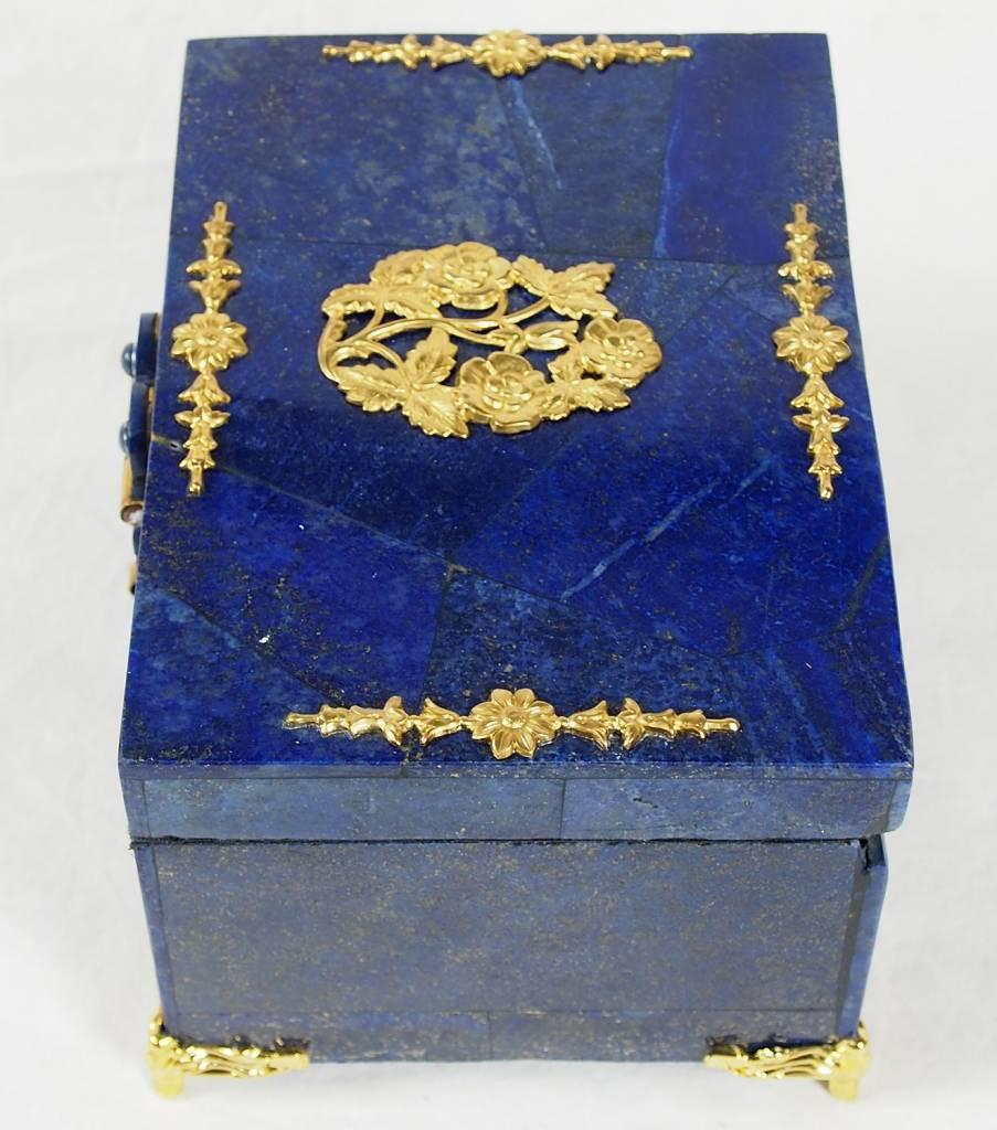 Extravagant Afghan Lapis lazuli büchse Schmuck Dose schatulle Kiste box No:18/30