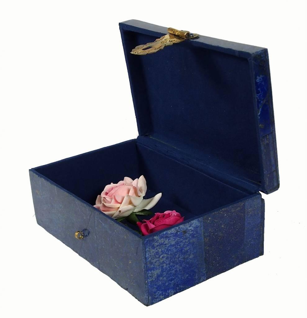 Extravagant Afghan Lapis lazuli büchse Schmuck Dose schatulle Kiste box No:18/32
