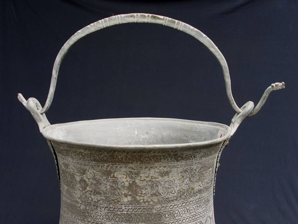 Antique Large  18th to 19th century Tinned Copper bucket No: 18/XXL
