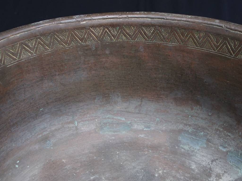 Antique Large  18th to 19th century Tinned Copper Bowl No:Jam/  18/D