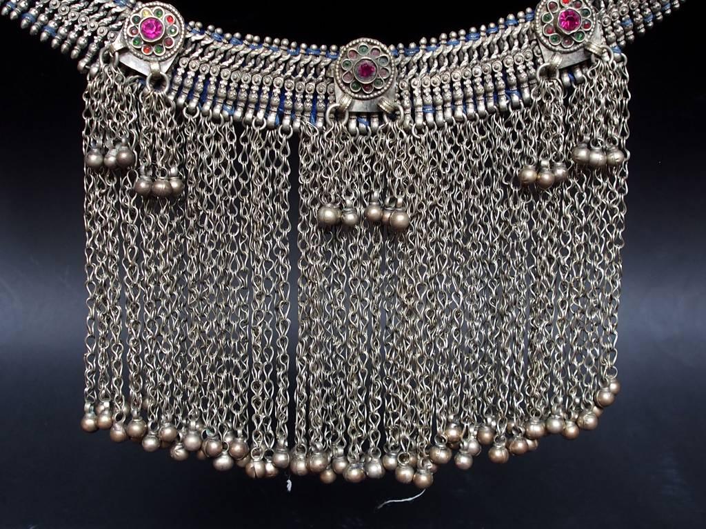 Antike Vintage Afghanische Boho Hochzeit Halskette nomaden Halskette Choker Nomadenschmuck Dorfschmuck Bauernschmuck 18/11-B