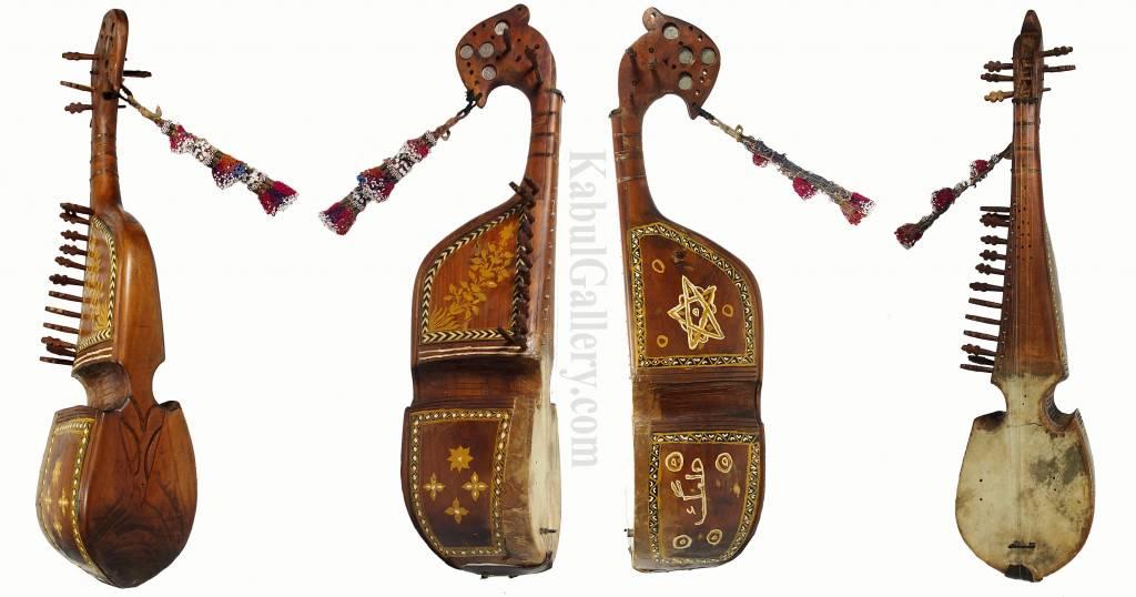 Antik orient Musikinstrument Robab Ruhbab Rebab Rubab afghanische volksmusik ML