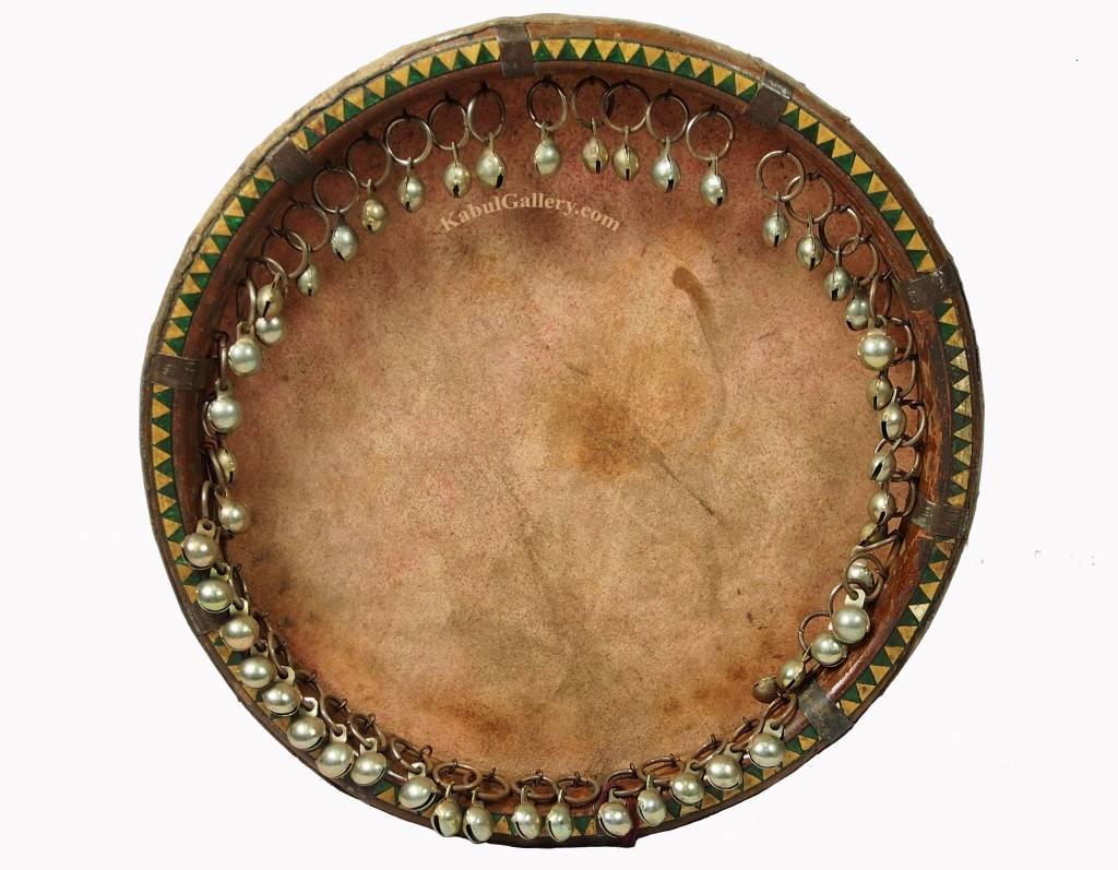 Antik orient Musikinstrument Daff handtrommel leather hand-drum Trommel Daira A