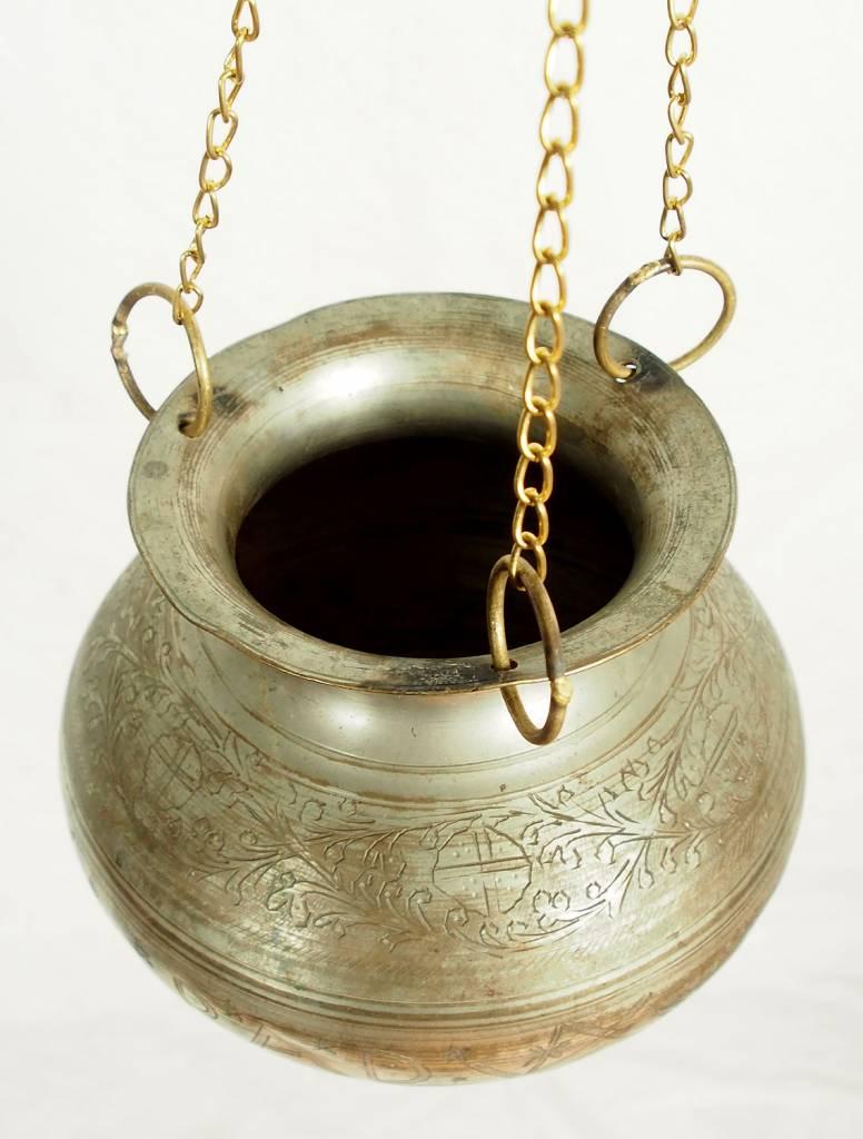 1,5 Liter antik orient Massiv Messing Ayurveda Shirodhara Stirnguss Stirnölguss öl-Therapie Panchakarma Yoga Dhara Vessel gefäß -Nr: ET/7