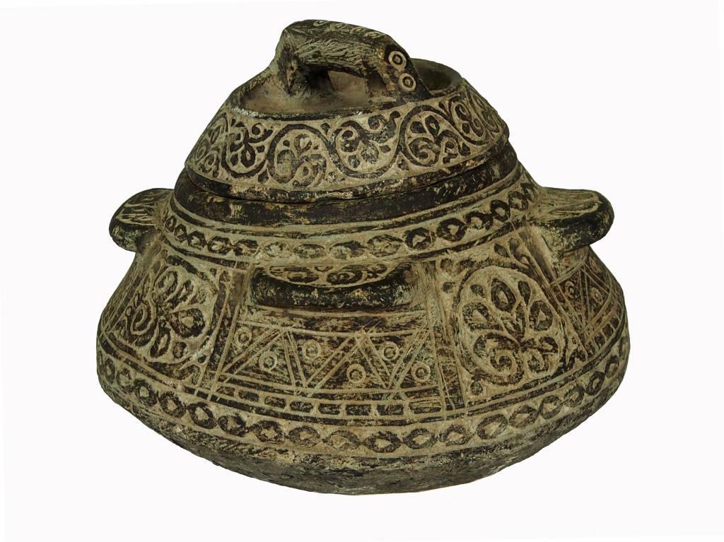 antik sehr seltener islamische Topf Schale kochtopf Speckstein Afghanistan / Pakistan Nr:B