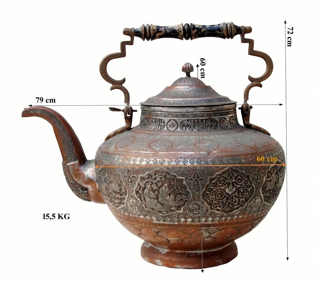 antike Persische riesige  Kupfer Kanne  XXL