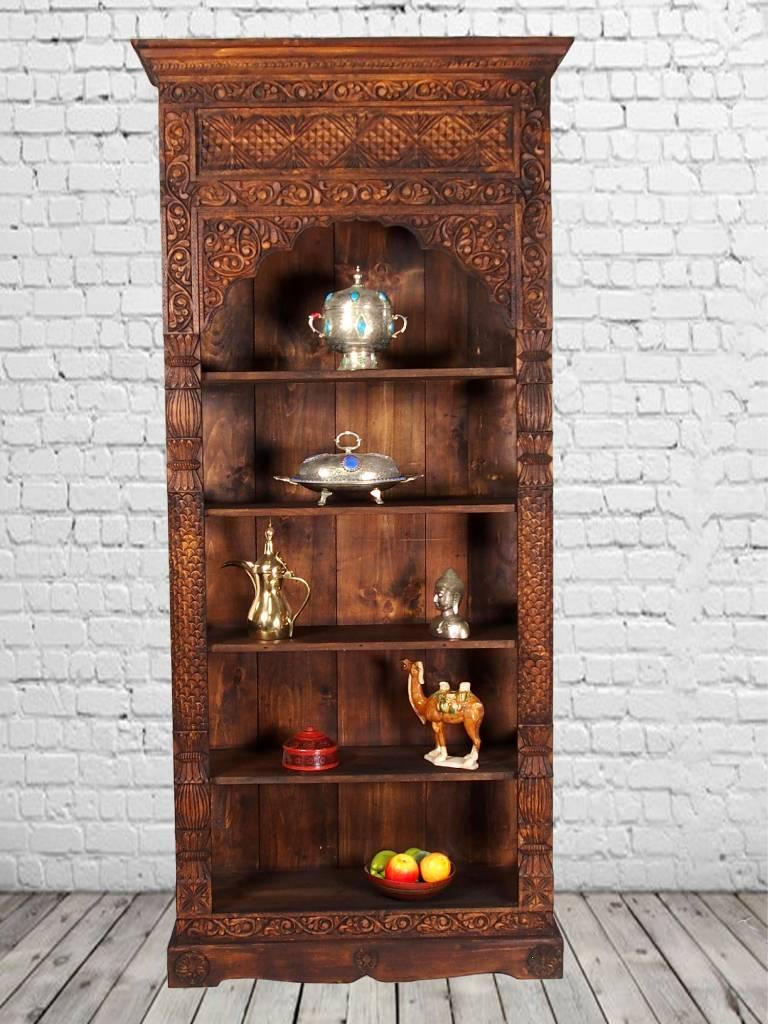 antik-look Schrankwand Wohnwand Regalwand Regal Schrank bücherregal Nuristan Afghanistan 18/B