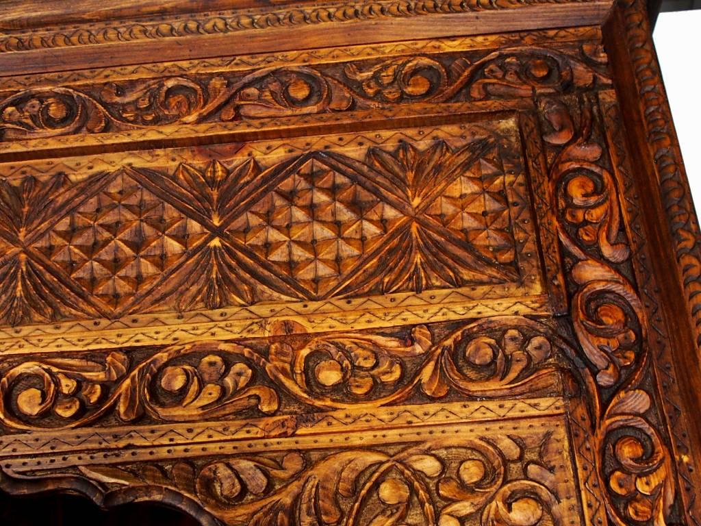 antik-look Schrankwand Wohnwand Regalwand Regal Schrank bücherregal Nuristan Afghanistan 18/A