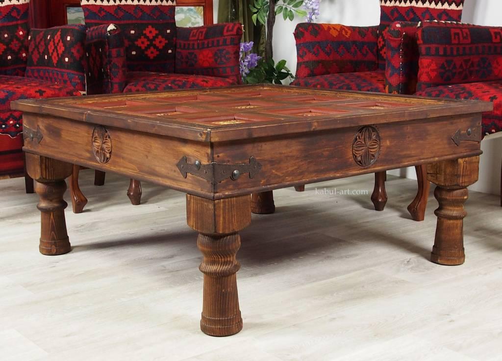 100x100 cm Massivholz  Wohnzimmer Tisch PJ/B