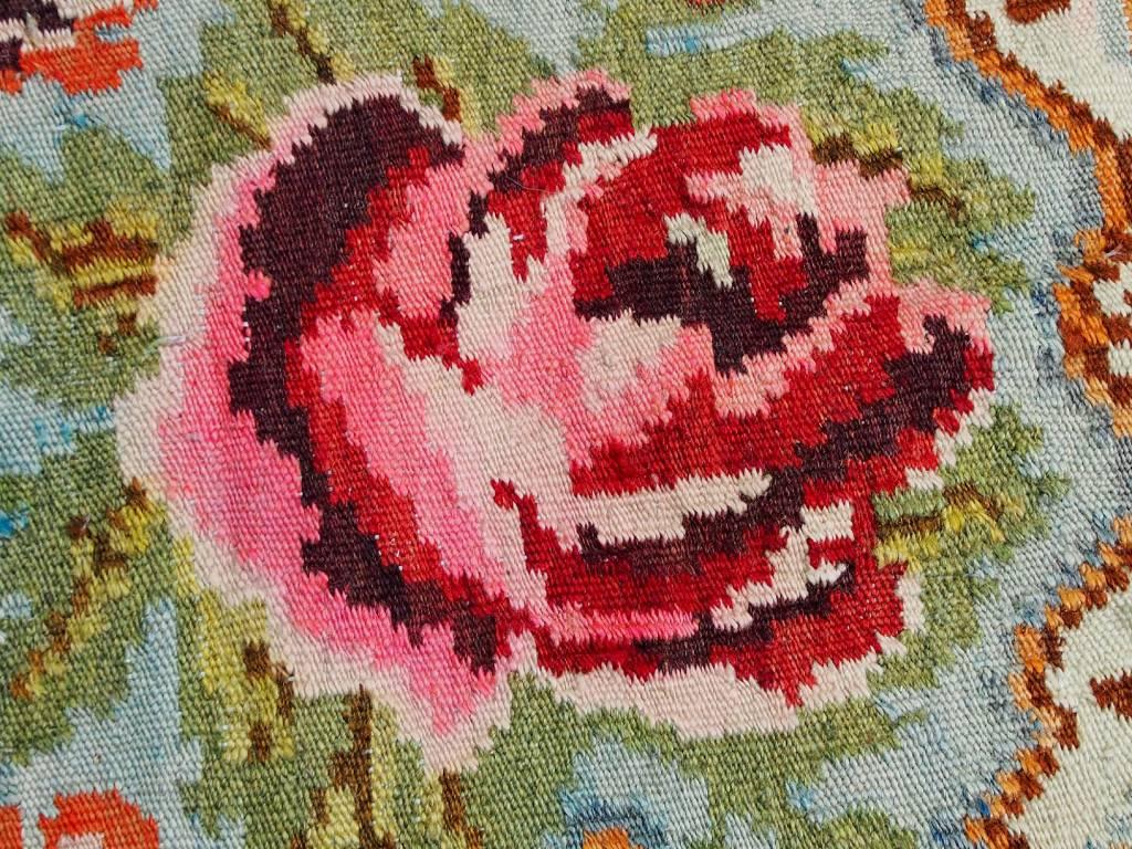 255x184 cm sehr seltener antike handgewebte orientteppich Kelim Rosen Moldavia rug Carpet Rosen Bessarabian Teppich Nr:19/2