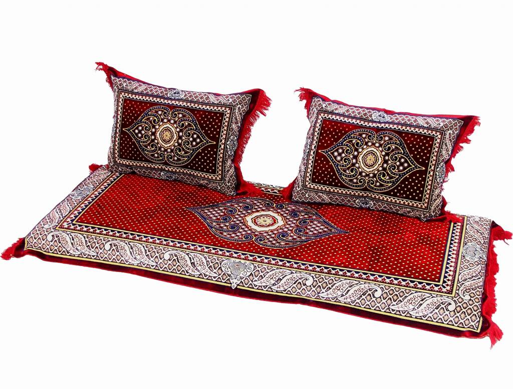 Set of 3 Pcs  1x Mattress  + 2x cushions orient Afghan nomad pillow rug seat floor cushion 1001-night Seating  majlis Toshak توشک  (19/A)