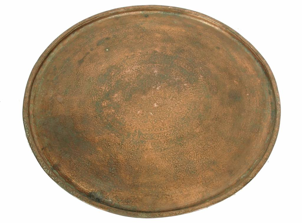 56 cm Ø antik osmanische ägyptisch marokkanisch orient Kupfer tablett Teetisch Teller beisteltisch tisch aus Afghanistan No:16/17