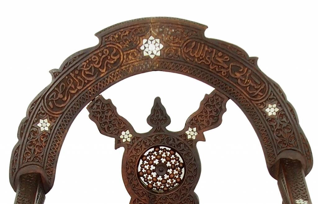 antik luxuriöse orient islamische Savonarola Stuhl scherenstuhl Ritterstuhl zusammenklappbar Perlmutteinlage aus syrien