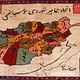 128x90 cm afghan Orientteppich Landkarte super-feine Qualität Seiden Afghan orientteppich Silk Carpet mit Holz Rahmen (faiz)