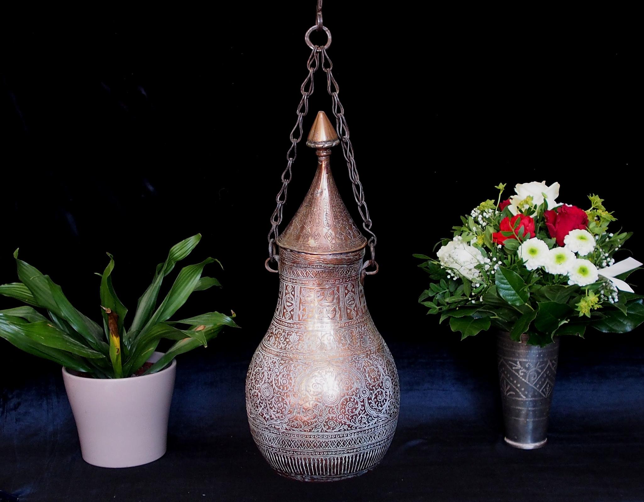 Antik osmanische Kupfer Wasserflasche gefäß