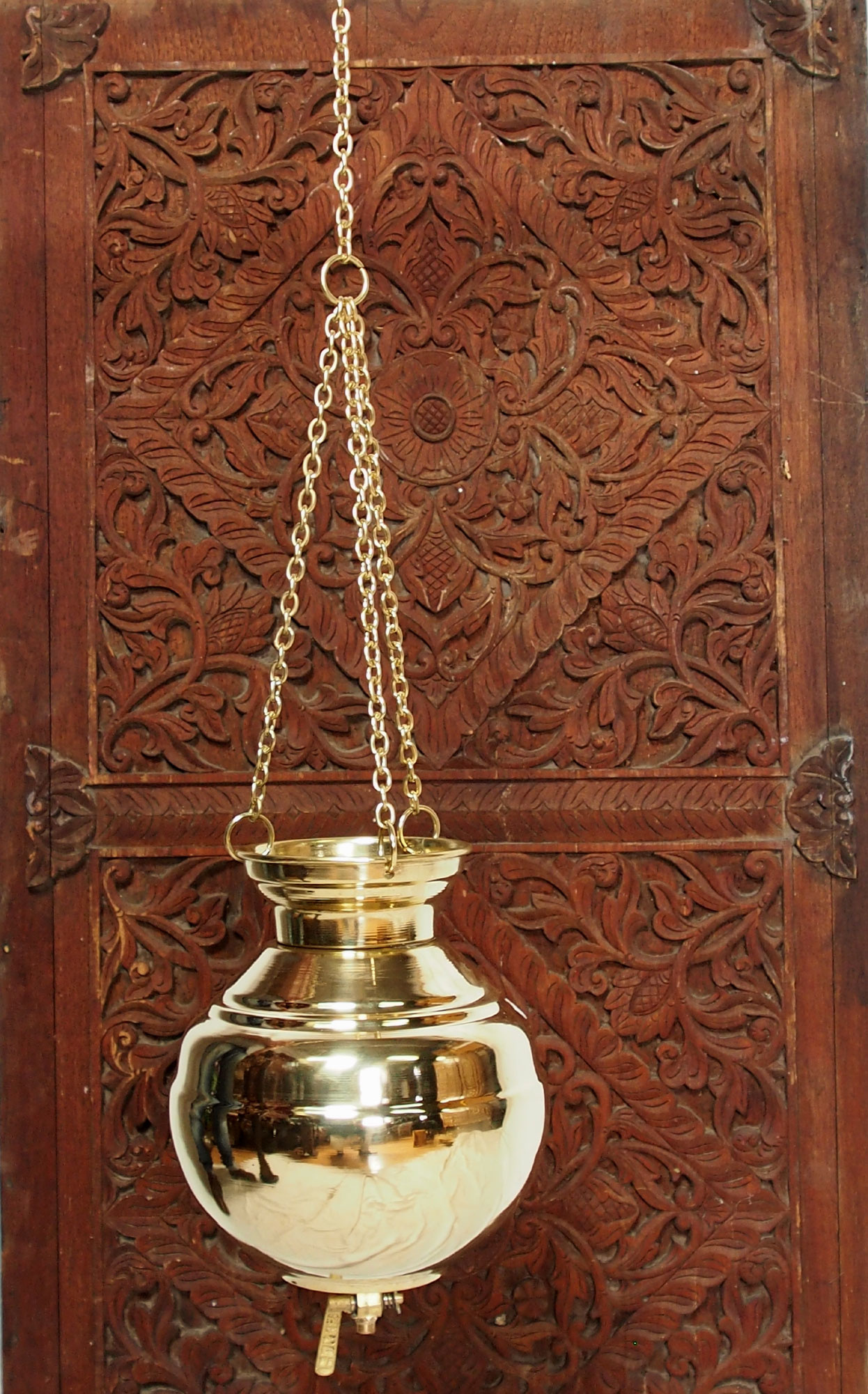 shirodhara ayurveda Stand inklusiv 2.5 Liter Messing Shirodhara Gefäß Nr:19