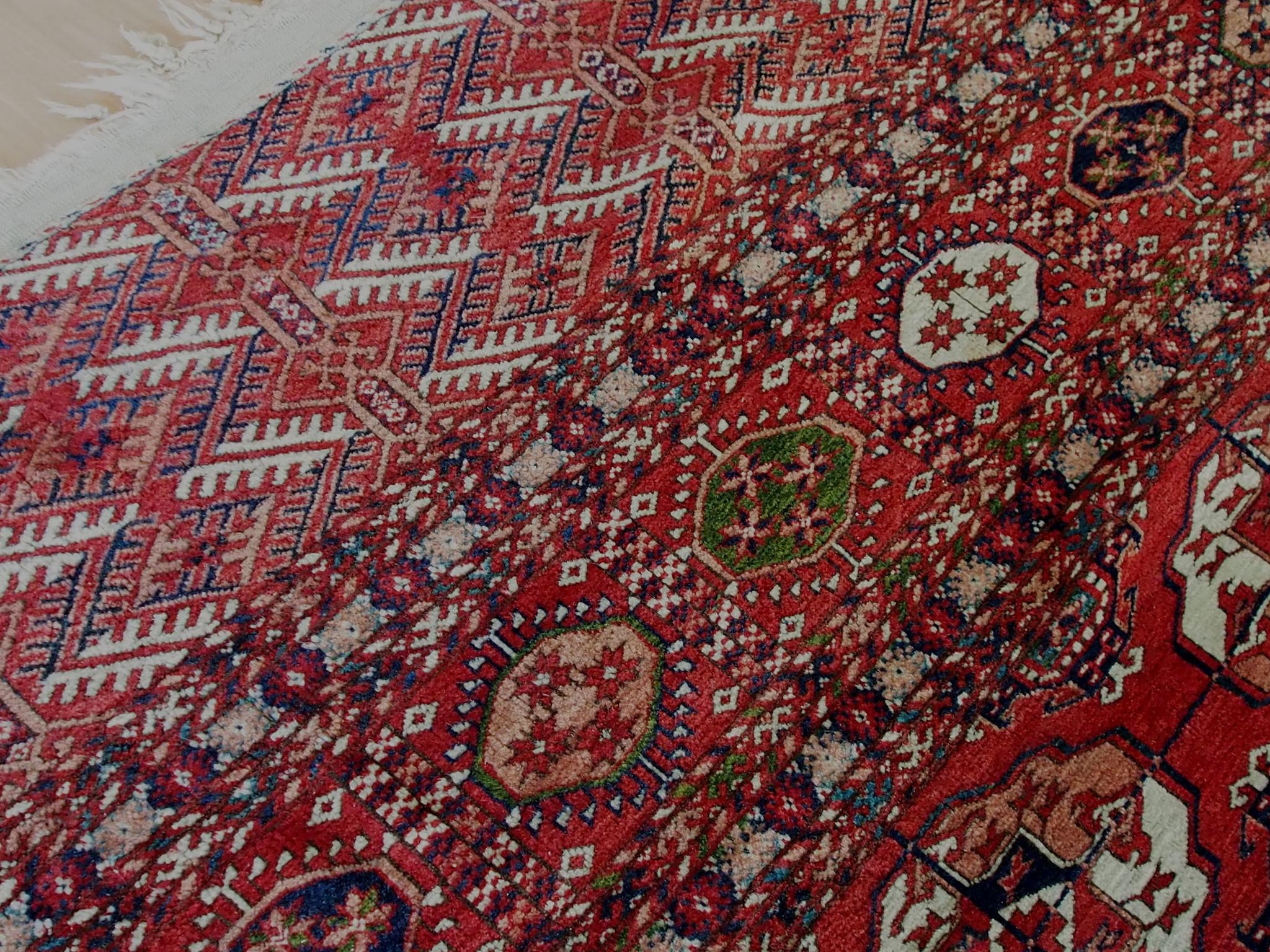450x355 cm  antik Bukhara Teppich