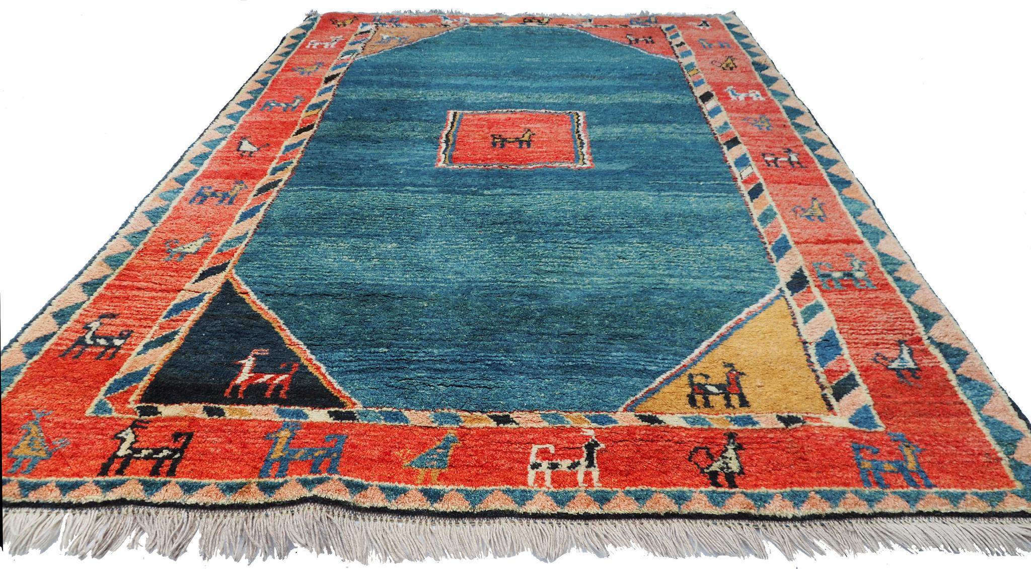 240x170 cm echte Nomaden Gabbeh Teppich