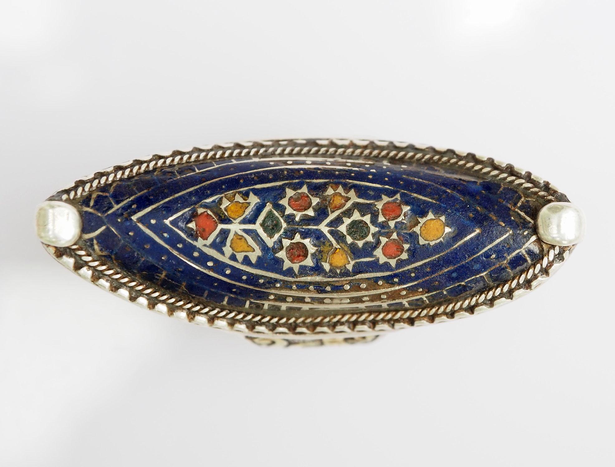antique Multan enamelled Ring Nr:508