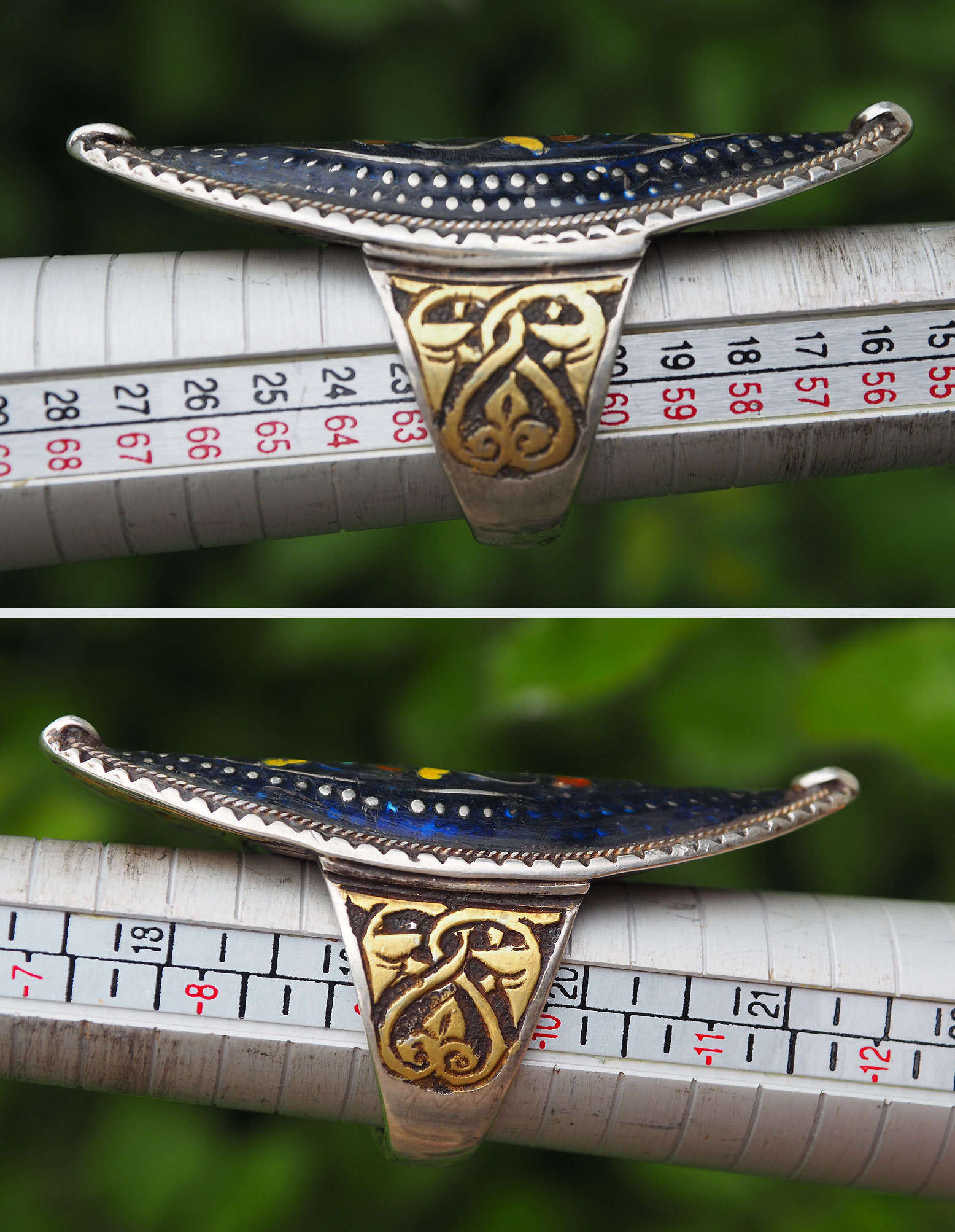 antique Multan enamelled Ring Nr:509