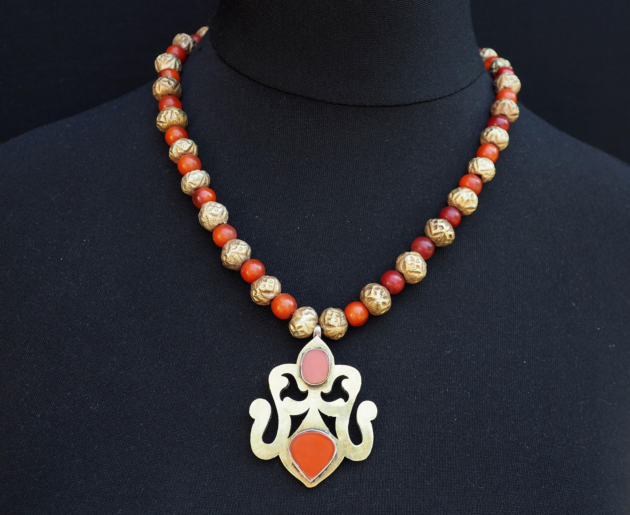Ethnic Turkmen tribal  silver  necklace Kette Nr:B