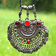antike Afghan nomaden schmuck Silber Kette Anhänger nomadic Silver necklace 19-1