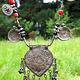 antike Afghan nomaden schmuck Silber Kette Anhänger nomadic Silver necklace 19-c