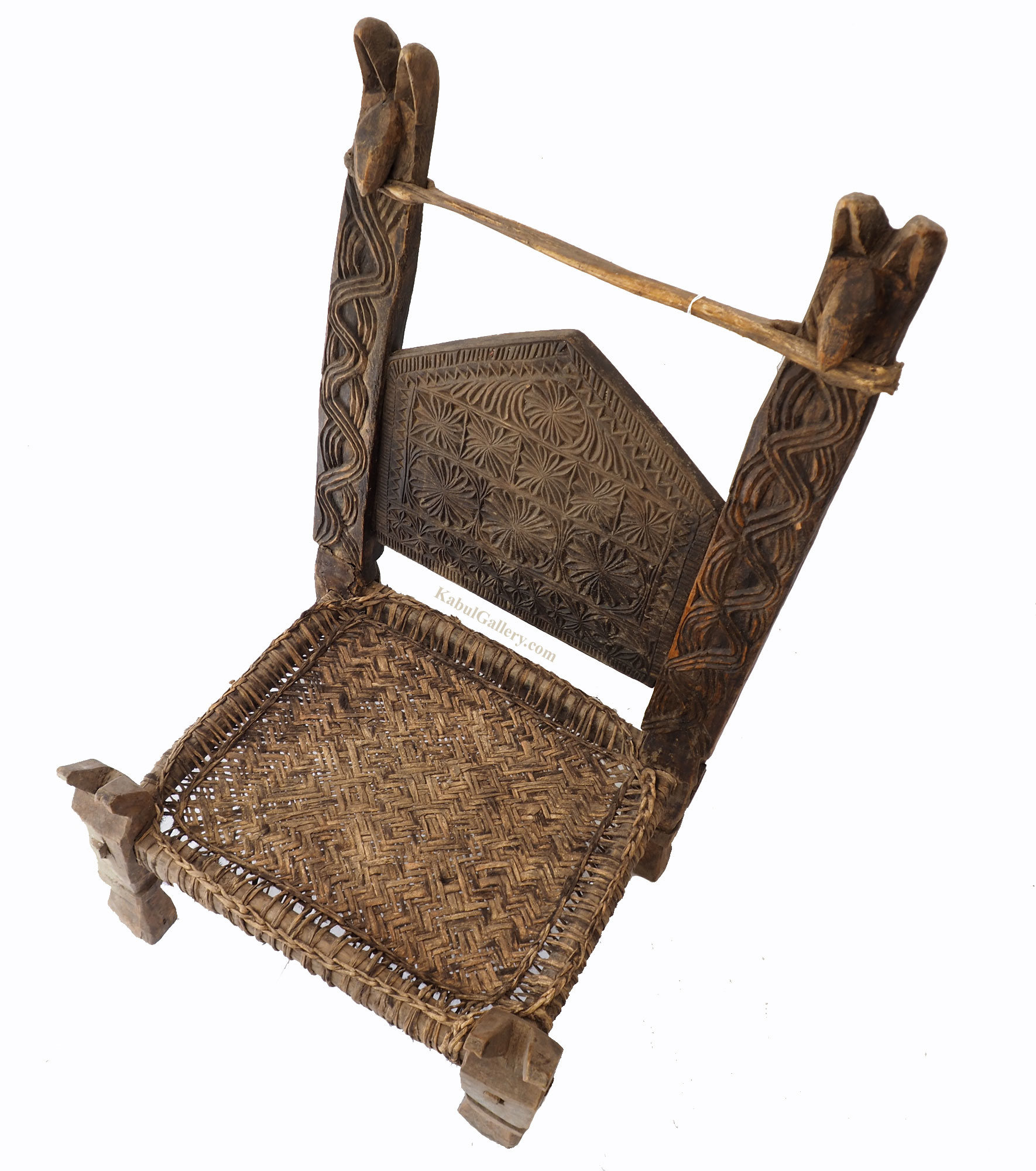 Antique Nuristan Chair Stuhl No: E