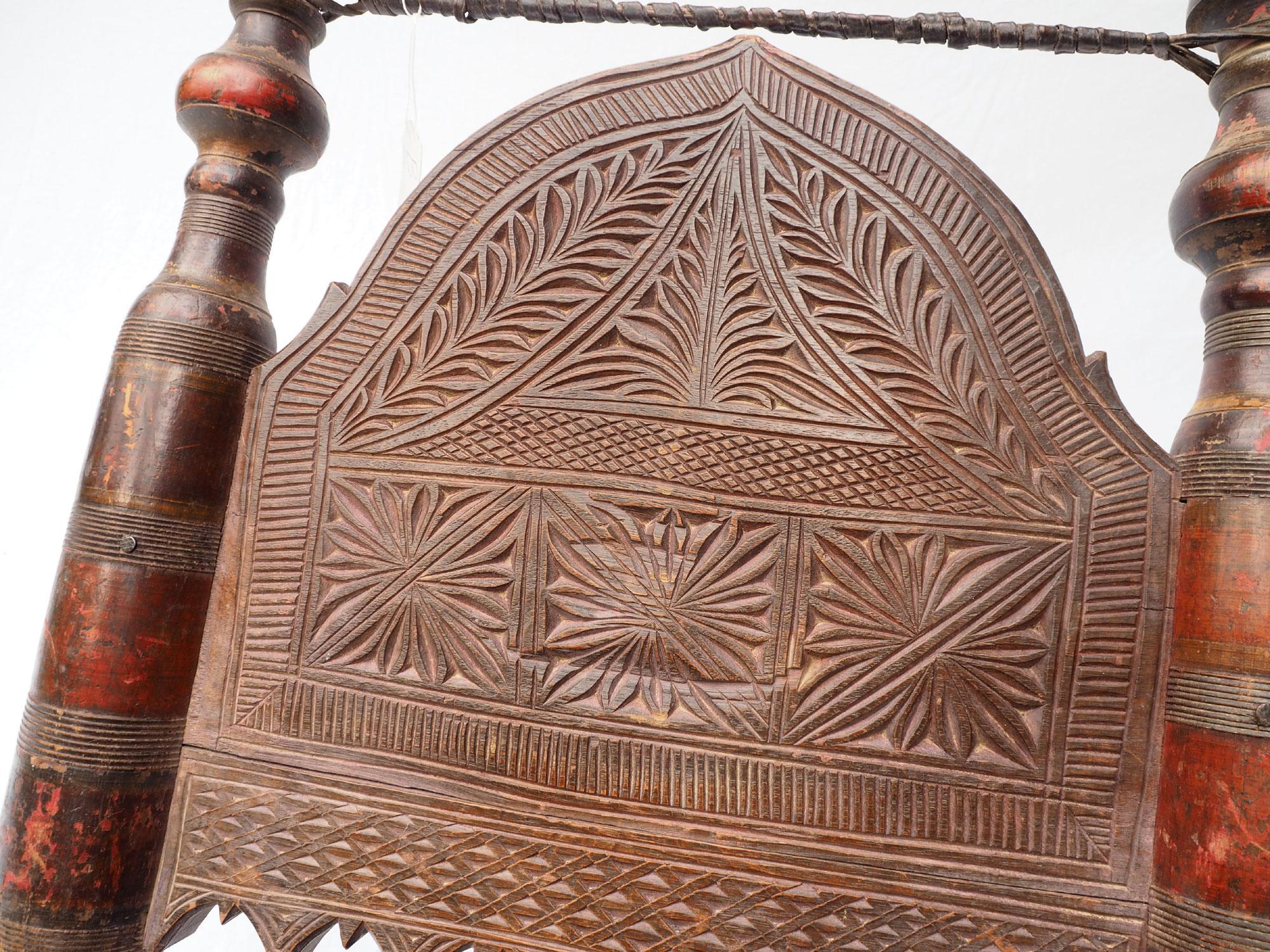 Antique Nuristan Chair Stuhl No: B