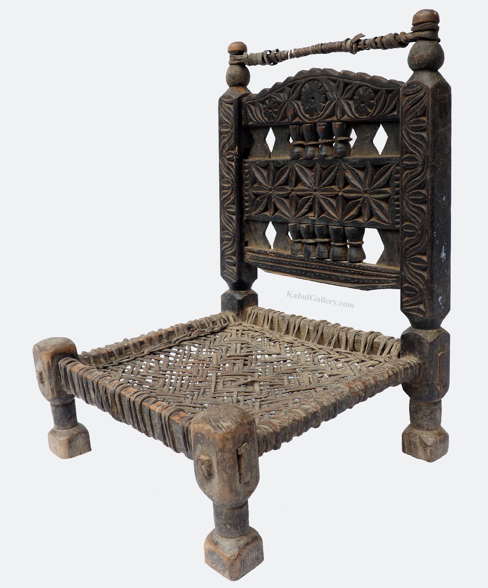 Antique Nuristan Chair Stuhl No: H