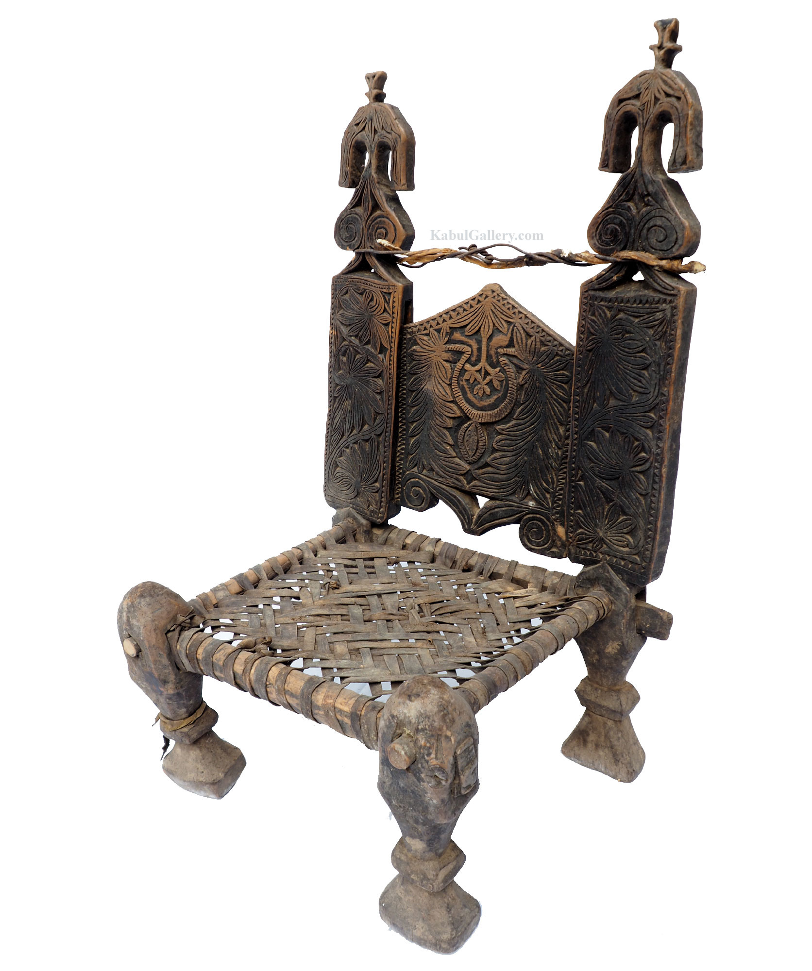 Antique Nuristan Chair Stuhl No:19/C