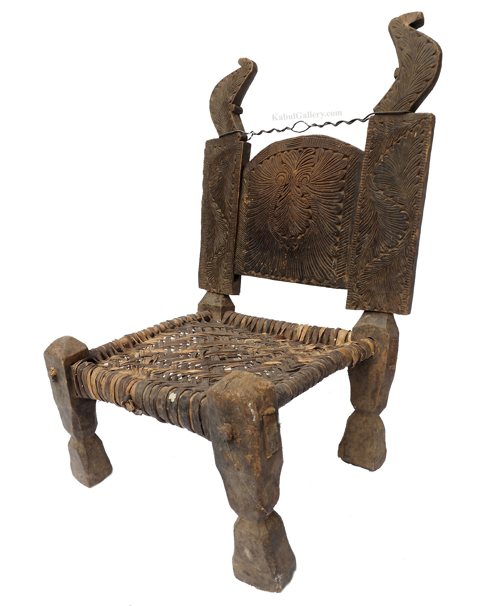 Antique Nuristan Chair Stuhl No: C