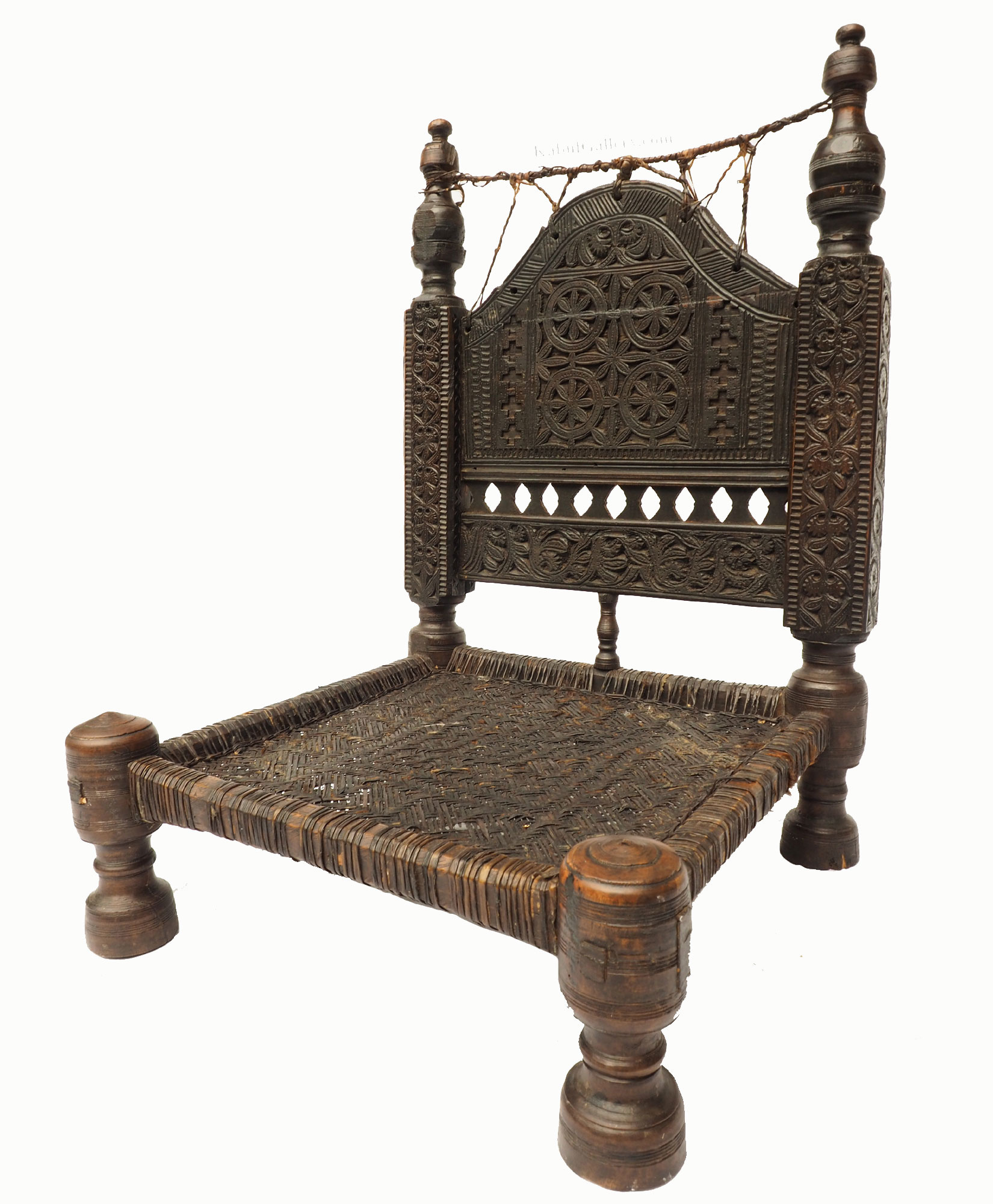 Antique Nuristan Chair Stuhl No:19/E