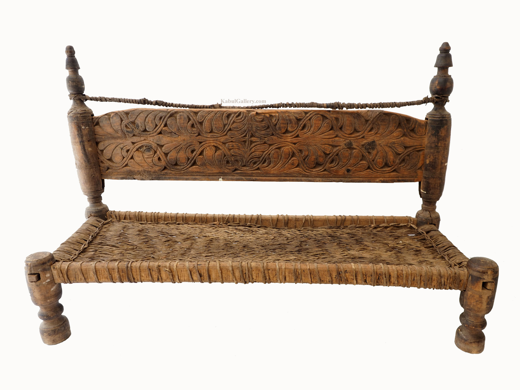 Antique Two Seater Nuristan Chair Stuhl No:19/F