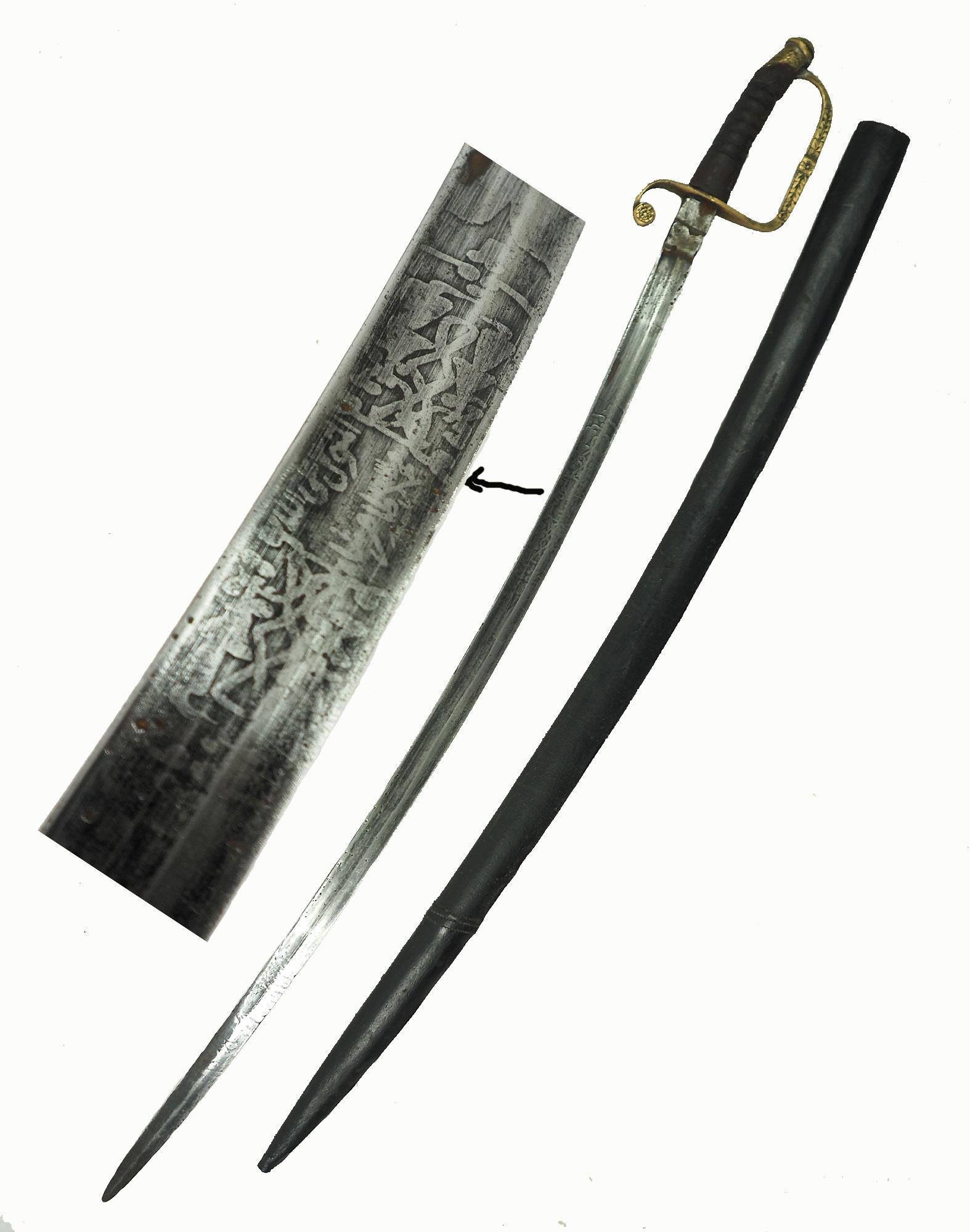 Antike Säbel messer schwert shamshir sword Knife aus Afghanistan Nr:19/ N