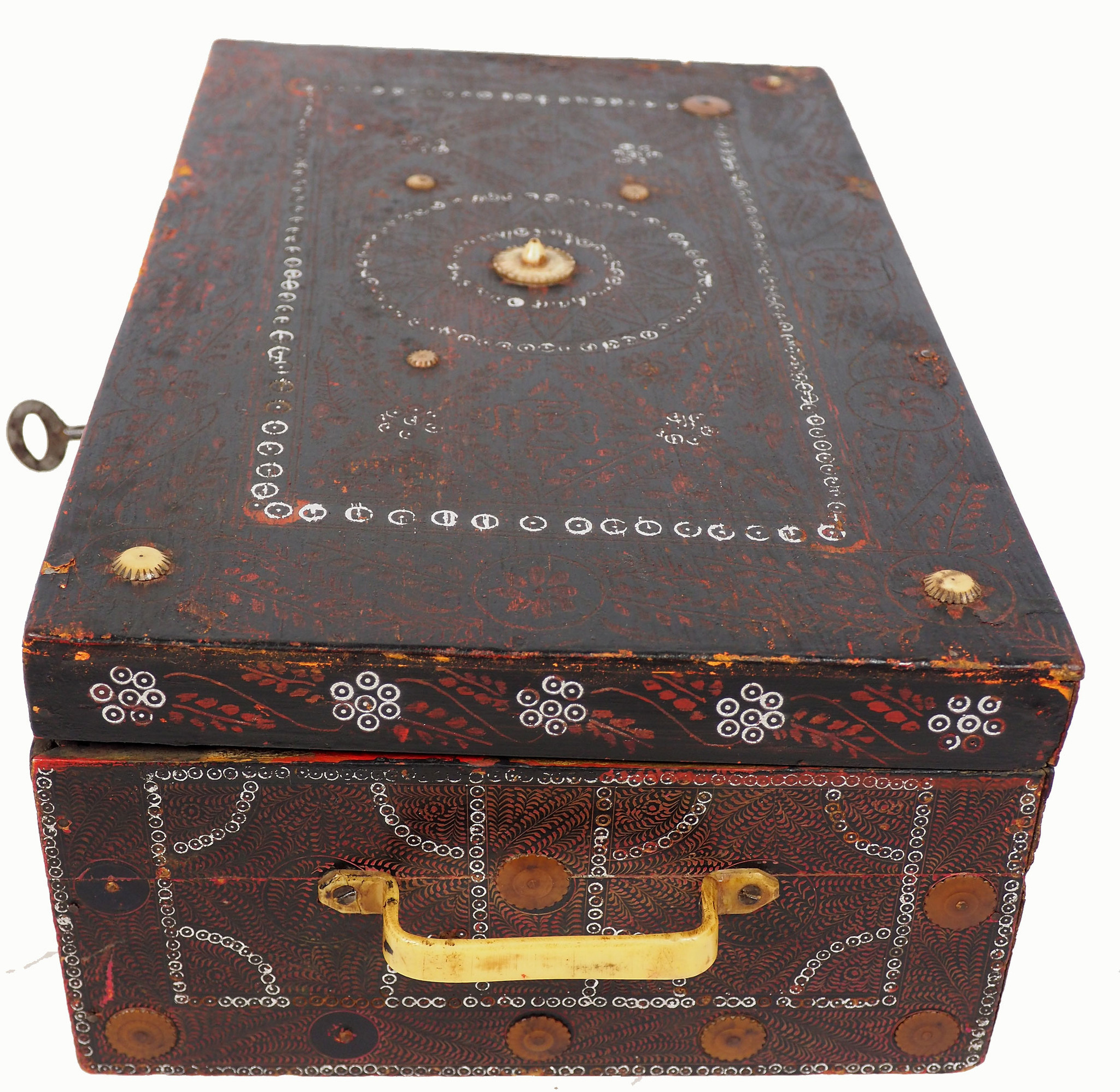 antique Lacquerware casket box Pakistan