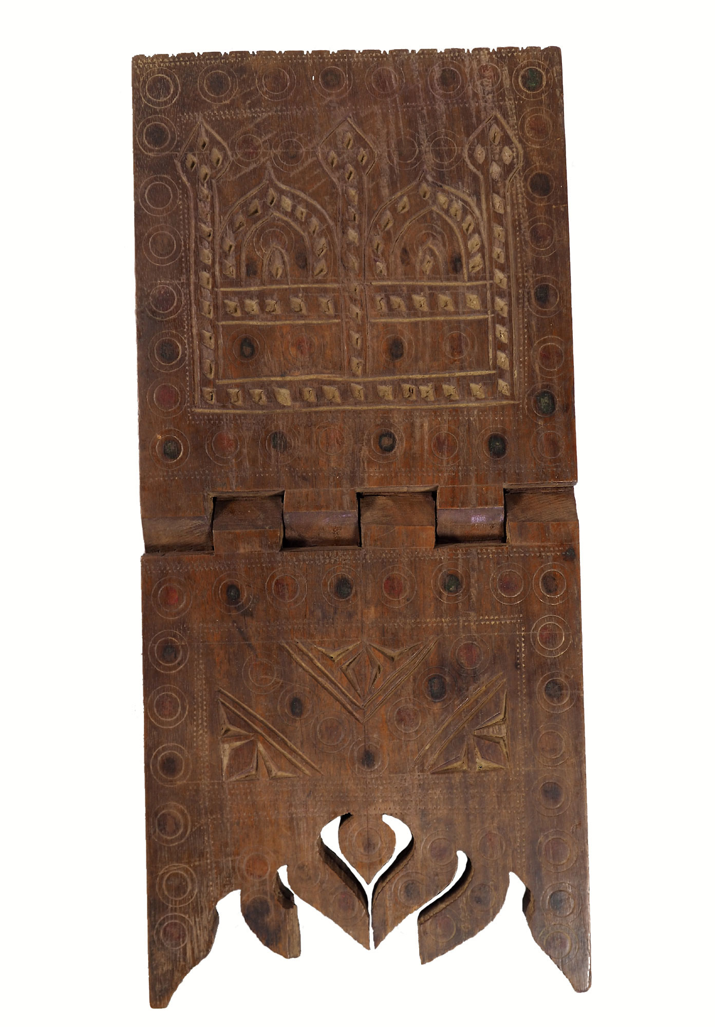 antique islamic Quran stand swat valley  No:W13